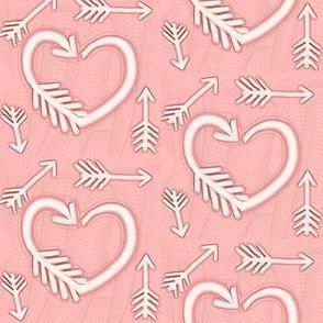 Shot Through the Heart / Arrows  -pink-pastel