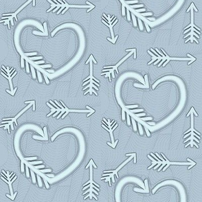Shot Through the Heart / Arrows  -soft steel blue