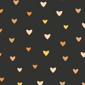 Bronze Hearts // Chalk Black // Large