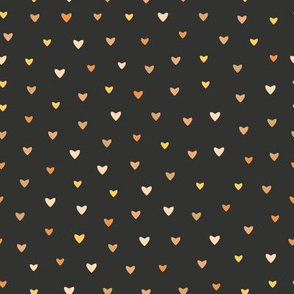 Mini Bronze Hearts // Chalk Black // Small