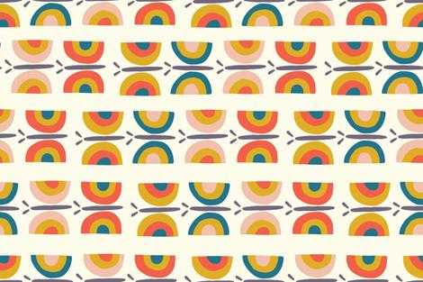 Retro Butterflies Bar Cart Tea Towel fabric by sandra_hutter_designs on Spoonflower - custom fabric