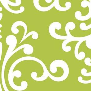 damask xl lime green