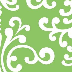 damask xl apple green