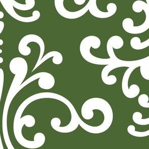damask xl hunter green