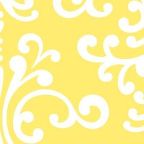 damask xl lemon yellow