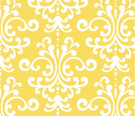 damask xl butter yellow fabric by misstiina on Spoonflower - custom fabric