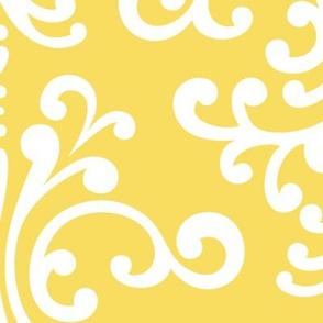 damask xl butter yellow