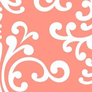 damask xl peach