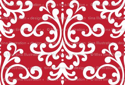 damask xl red