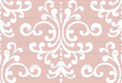 damask xl dusty pink