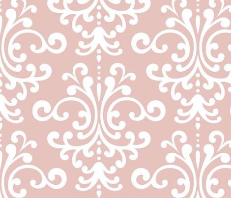 damask xl dusty pink fabric by misstiina on Spoonflower - custom fabric