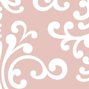 damask xl dusty pink