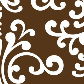 damask xl brown