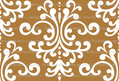 damask xl caramel