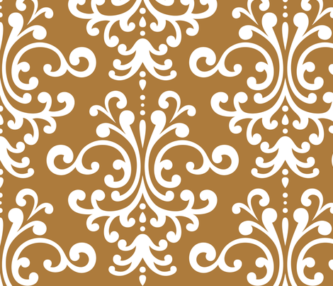 damask xl caramel fabric by misstiina on Spoonflower - custom fabric