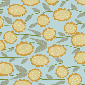 Sunflower Day for { Tea Towels }