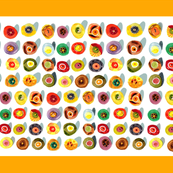 sushi colorful Kitchen Towel