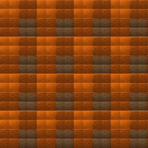 Quilted Oranges and Charcoal