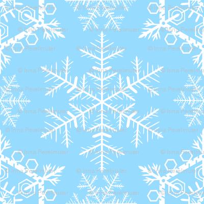 snowflake pattern on blue