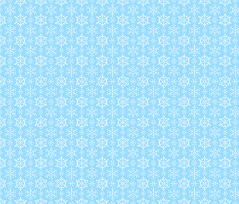 snowflake pattern on blue fabric by inotra on Spoonflower - custom fabric
