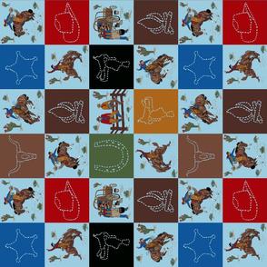 cowboy quilt blue sideways