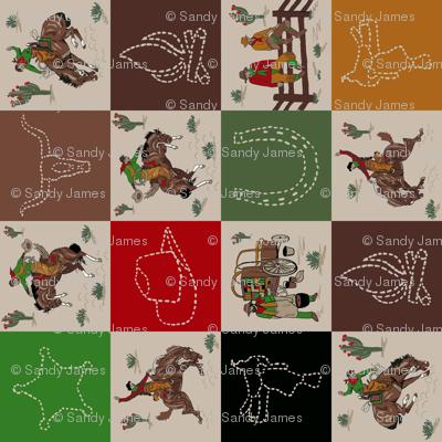 cowboy quilt tan sideways