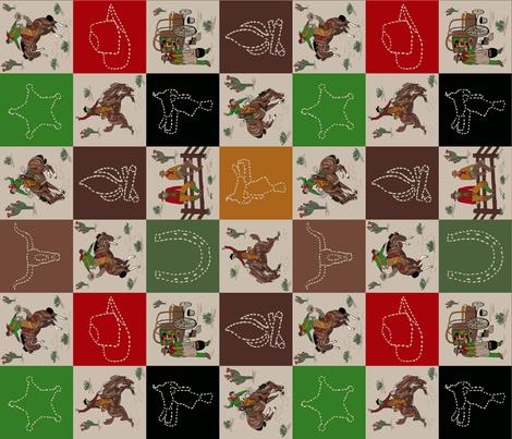cowboy quilt tan sideways fabric by leroyj on Spoonflower - custom fabric