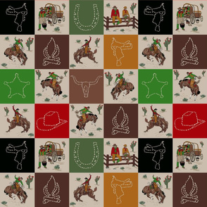 cowboy quilt tan