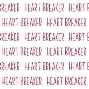Heart Breaker // Red and White