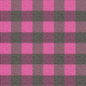 Checks in Pink and Gray