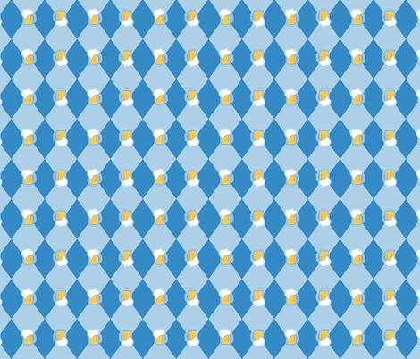 Oktoberfest Diamond Beer Mug Light BLue-01 fabric by khaus on Spoonflower - custom fabric