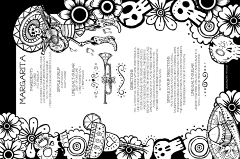 Color Your Own Margarita fabric by kfrogb on Spoonflower - custom fabric