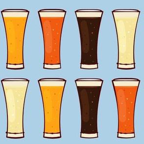 Beer Mugs on Light Blue-01