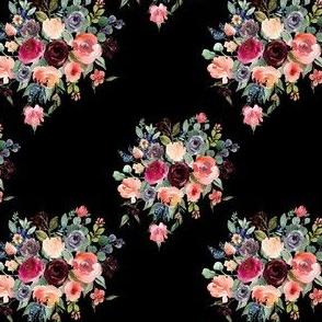 """4"""" Charlotte Bouquet - Black"""