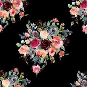 """8"""" Charlotte Bouquet - Black"""
