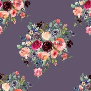 """8"""" Charlotte Bouquet - Grape"""