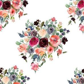 "8"" Charlotte Bouquet - White"