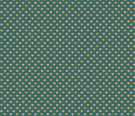 hearts fabric by kenza_shuja on Spoonflower - custom fabric