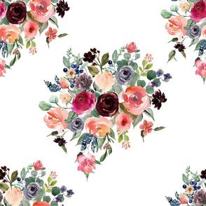 "18"" Charlotte Bouquet - White"