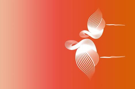 flamingo teatowel fabric by vivaeris_designs on Spoonflower - custom fabric