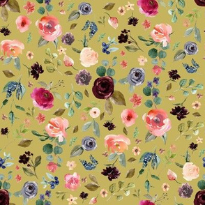 "8"" Charlotte Free Falling Florals - Burnt Gold"