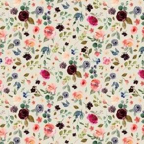 "4"" Charlotte Free Falling Florals - Latte"