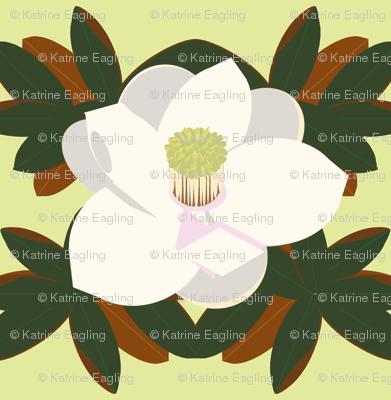 magnolia leaves_ yellow-green