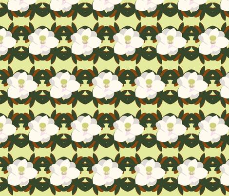 magnolia leaves_ yellow-green fabric by kae50 on Spoonflower - custom fabric