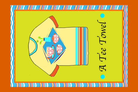 TEE TEA TOWEL-3s-01 copy copy fabric by soobloo on Spoonflower - custom fabric