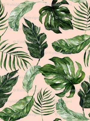 """8"""" Tropical Rain Forest Leaves // Peach"""