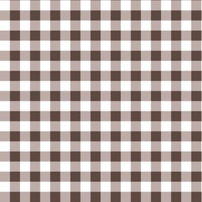 "8"" Brown Gingham"