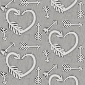 Shot Through the Heart / Arrows  -grey