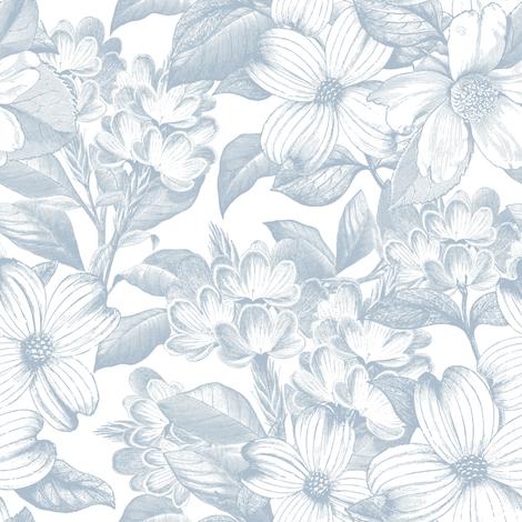 "8"" Chateau Florals - Sierra Blue fabric by shopcabin on Spoonflower - custom fabric"
