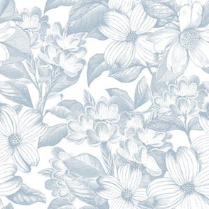"8"" Chateau Florals - Sierra Blue"